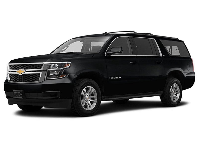 Black Chevy Suburban SUV